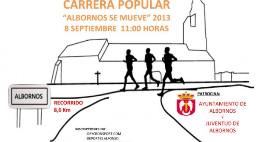 Carrera popular albornos se mueve